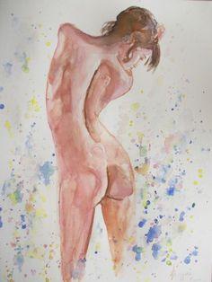 Nude 6-Original Watercolor Painting