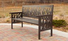 TallGrass Benches - Grass Pattern Seating