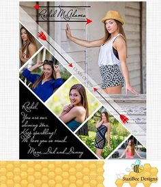 YEARBOOK AD TEMPLATE 6 Images Purchase & Add by SuziBeeDesigns: