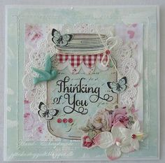 Jytte for Just Rite with a ball jar card; August 2013