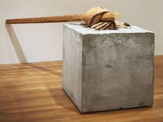 Cement, leather, and wood. x x x 287 x cm). Gift of Jo Carole and Ronald S. Painting and Sculpture Contemporary Art Artists, Contemporary Sculpture, Giuseppe Penone, Christo And Jeanne Claude, Postmodern Art, Found Art, Feminist Art, Process Art, Italian Artist