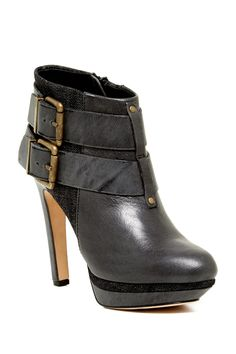 Melrose Sydnay Platform Leather & Denim Bootie by Diesel on @nordstrom_rack