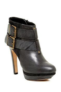 Melrose Sydnay Platform Leather & Denim Bootie by Diesel on @nordstrom_rack