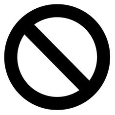 No No Circle Stop Cross Out Sign Logo Vinyl Decal Sticker Choose Size... ($2) ❤ liked on Polyvore featuring home, home decor, wall art, vinyl door signs, vinyl decals, window wall art, window signs and vinyl wall art