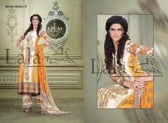 Lala Textiles Latest Spring Lawn Collection 2013 For Women