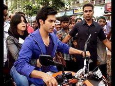 OMG ! Varun Dhawan takes Ekta Kapoor on a bike ride MUST WATCH