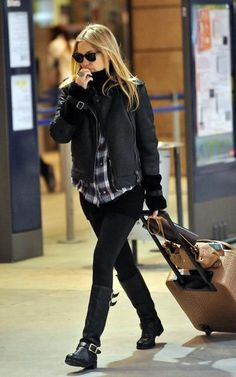 Kate Hudson and Jimmy Choo Yule Leather Biker Boots Photograph