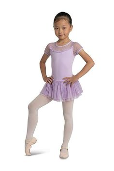 331da2f9b7a62 Danshuz Cap Sleeve Dress with Rhinestone Mesh Baby Ballerina, Dance Tights,  Dance Shoes,