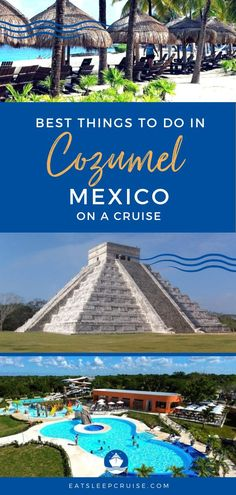 mexican culture Whether you love beaches, history, or adventure, you need to read our picks for the Best Things to Do in Cozumel on a Cruise for Cozumel Mexico Excursions, Cozumel Cruise, Cruise Excursions, Mexico Resorts, Cruise Destinations, Cruise Port, Mexico Vacation, Cruise Tips, Cruise Travel