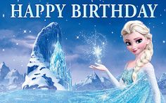 Disney Frozen Birthday Banner  Elsa and Castle by SpecialtyBanners