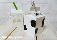 Free printable - Cute Milk Carton Template