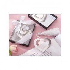 Regalos economicos para mujeres: Elegante punto de libro corazon en cajita con lazo