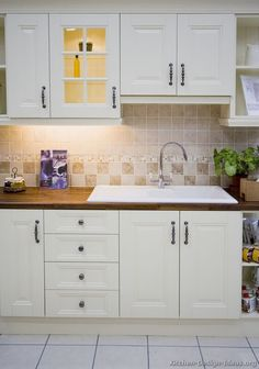 #Kitchen Idea of the Day: Traditional White Kitchens - Gallery. Extra-wide sink.