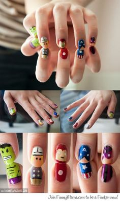 Gorgeously geeky nail art...