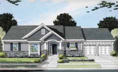 Bungalow House Plan with 1563 Square Feet and 3 Bedrooms(s) from Dream Home Source | House Plan Code DHSW50575