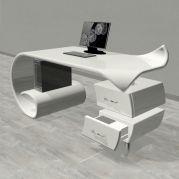 B&G design presentano scrivania Waves Office Table Design, Office Desk, Corner Desk, Krishna, Furniture, Home Decor, Italia, Corner Table, Desk Office