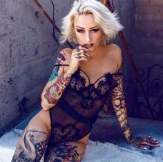 Baby Girl Tattoos. A sexy and sensual blog with handsome photography of girls and tattos. Inked...