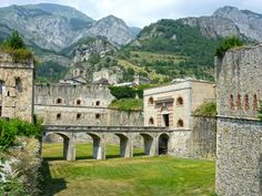ITALY, FORTE ALBERTINO IS A FORTRESS IN VINADIO, PIEDMONT