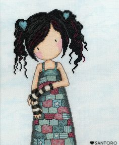 Lost For Words Gorjuss cross stitch kit