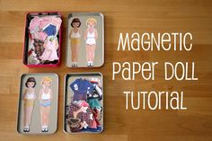 French Press Knits: Magnetic Paper Dolls Tutorial This looks like so much fun! Paper Doll Craft, Doll Crafts, Paper Toys, Diy Doll, Paper Crafts, Shoebox Crafts, Geek Crafts, Projects For Kids, Diy For Kids