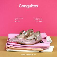¡Aporta color y estilo a los looks de tu peque! Bailarinas en rosa metalizado, la última tendencia para vestir sus pies :)  Consíguelas por sólo 28,90€ en www.conguitos.es