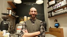 BMCC Alum and owner of Laughing Man Coffee shop David Steingard Laughing Man Coffee, Coffee Bags, Reaching For The Stars, Worlds Of Fun, Coffee Shop, David, Shopping, Products, Coffee Sacks