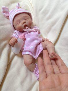 Precious OOAK polymer clay baby girl, Art Doll, 8.5'' approx. in Dolls & Bears | eBay
