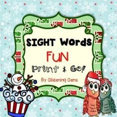 Christmas Sight Words printable pack - This pack will assist students to consolidate their sight word recognition. The Christmas sight words cut and paste activities are primarily targeted to students in Kindergarten, however it can also be used in Pre K and Year 1 depending on your students ability level.The sight words that are included in the cut and paste activities are: look, at, the, is, see, I, here, a, have, there, redstrong>The Christmas Sight Word kit includes: 8 cut and paste…