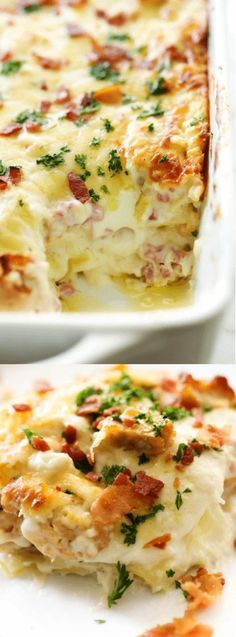 OMG this sounds so good, but so bad for me lol. Chicken Cordon Bleu Lasagna recipe from Chef in Training is a creamy and delicious dinner that will blow you away! The taste is amazing and will become an instant family favorite. I Love Food, Good Food, Yummy Food, Tasty, Pasta Dishes, Food Dishes, Main Dishes, Chicken Cordon Bleu Lasagna, Best Chicken Recipes