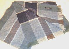 Pierre Pascal France Men's Blue & Gray Plaid Acrylic Muffler Scarf #PierrePascal #Muffler