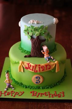 Phineas and Ferb cake by Andrea's SweetCakes, via Flickr