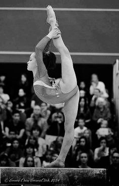 Norah Flatley. The thing I love about this is that her back does not look hypermobile but she still has her needle. And good form on layout-based skills