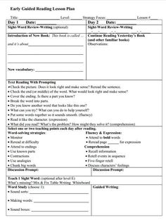 Guided Reading Lesson Plans Luxury Mrs Miner S Kindergarten Monkey Business Guided Reading Guided Reading Plan Template, Guided Reading Lesson Plans, Daily Lesson Plan, Guided Reading Levels, Kindergarten Lesson Plans, Kindergarten Reading, Reading Groups, Kindergarten Blogs, Reading Centers