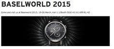 We proudly present our BaselWorld 2015 novelties and our new website. Thank you for visiting us.