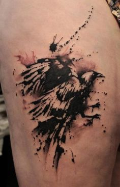 one of the most beautiful Raven tattoos i have seen