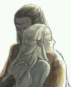 Воссоединение Элронда и Келебриан в Валиноре  Тhe reunification of Elrond and Celebrian in Valinor
