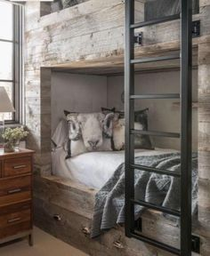 Barn Board Bunk Beds - Design photos, ideas and inspiration. Amazing gallery of interior design and decorating ideas of Barn Board Bunk Beds in bedrooms, girl's rooms, boy's rooms by elite interior designers.