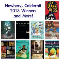 Newbery Medal 2013, Caldecott Medal 2013, Newbery winner, Caldecott Winner, Coretta Scott King This site lists a ton of award winners. Awesome!