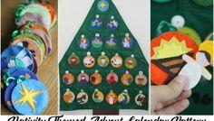 Nativity Themed Felt Advent Calendar Pattern