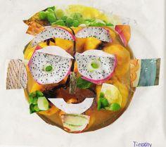 GEZONDHEID / VOEDING: creatieve les: maak een collage - Guiseppe Arcimboldo