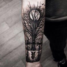 tree forearm tattoos