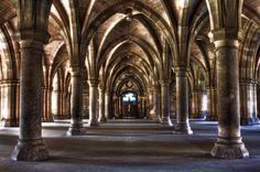 Un cloître, université de Glasgow