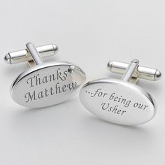 Engraved Thanks for Being our Usher Cufflinks  from Personalised Gifts Shop - ONLY £19.95