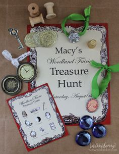 "LOVE the treasure hunt idea. They could find ""lost"" things ;)"