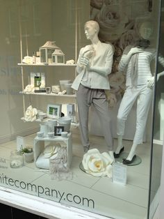 The White Company shop front March 2014 - Paper Flowers