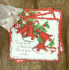 Retro Christmas Bell Tags #580..................LB XXX