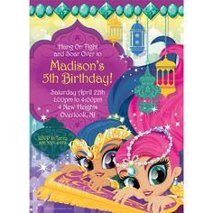 Check out Glisten and Sparkle Personalized Invitation (Each) | Glisten and Sparkle tableware and décor for your next party from Birthday in a Box from Birthday In A Box