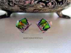Your place to buy and sell all things handmade Jewel Tone Bridesmaid, Jewel Tone Wedding, Swarovski Crystal Earrings, Sterling Silver Earrings Studs, Bride Earrings, Stud Earrings, Jewelry Gifts, Handmade Jewelry, Wedding Gifts For Bridesmaids