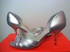 c8ad3ef2f8b4 Ivanka Trump Nanci Platinum Suede Women s Dressy Evening Heels Pumps Size  5.5 M  IvankaTrump