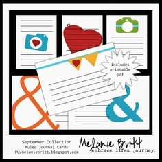 free ruled journal cards #projectlife #digitalprojectlife